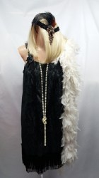 Black and gold flapper