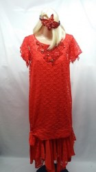 Red Lace Flapper