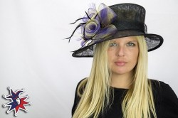 black purple hat